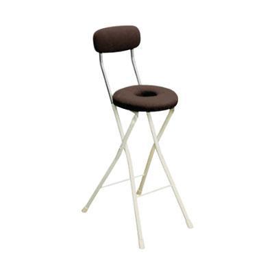 カウンターチェア 北欧 おしゃれ 安い バーチェア ハイチェア 椅子 アメリカン アンティーク デザイナーズ レトロ ドーナツハイ ブラウン/アイボリー