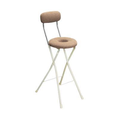 カウンターチェア 北欧 おしゃれ 安い バーチェア ハイチェア 椅子 アメリカン アンティーク デザイナーズ レトロ ドーナツハイ アイボリー/アイボリー
