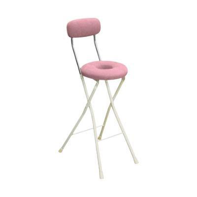 カウンターチェア 北欧 おしゃれ 安い バーチェア ハイチェア 椅子 アメリカン アンティーク デザイナーズ レトロ ドーナツハイ ピンク/アイボリー