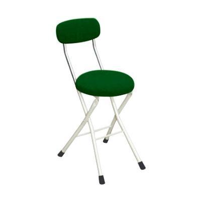 パイプ椅子 折りたたみ 会議椅子 チェア イス いす スツール オフィスチェア 事務椅子 椅子 パソコンチェア デスクチェア pc 丸 クッションチェア グリーン/アイボリー 48