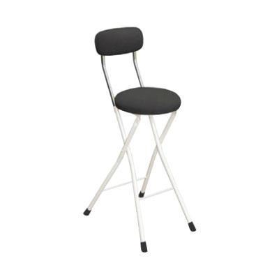 カウンターチェア 北欧 おしゃれ 安い バーチェア ハイチェア 椅子 アメリカン アンティーク デザイナーズ レトロ 丸 クッションチェア ハイ ブラック/アイボリー 65