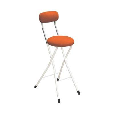 カウンターチェア 北欧 おしゃれ 安い バーチェア ハイチェア 椅子 アメリカン アンティーク デザイナーズ レトロ 丸 クッションチェア ハイ オレンジ/アイボリー 65