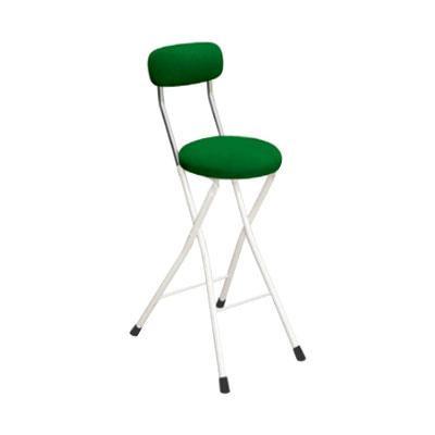 カウンターチェア 北欧 おしゃれ 安い バーチェア ハイチェア 椅子 アメリカン アンティーク デザイナーズ レトロ 丸 クッションチェア ハイ グリーン/アイボリー 65