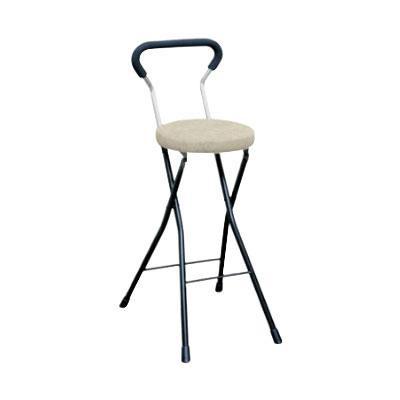 カウンターチェア 北欧 おしゃれ 安い バーチェア ハイチェア 椅子 アメリカン アンティーク デザイナーズ レトロ クッションチェア ハイ アイボリー/ブラック