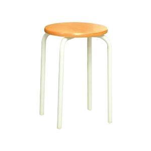 パイプ椅子 スタッキングチェア オフィスチェア 会議用チェア 会議椅子 チェア イス いす スツール 事務椅子 椅子 パソコンチェア デスクチェア pc 丸 ナチュラル/アイボリー