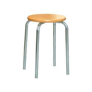 パイプ椅子 スタッキングチェア オフィスチェア 会議用チェア 会議椅子 チェア イス いす スツール 事務椅子 椅子 パソコンチェア デスクチェア pc 丸 ナチュラル/シルバー