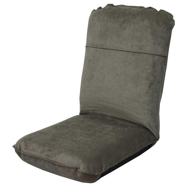 座椅子 リクライニングチェア 低い 椅子 一人暮らし コンパクト ローチェア こたつ おしゃれ 1人掛け 一人掛け ハイバック 極厚 折りたたみ グレー