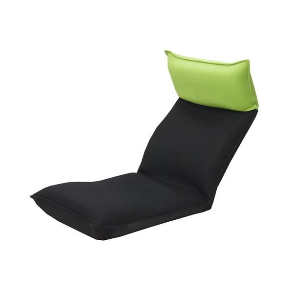 座椅子 リクライニングチェア 低い 椅子 一人暮らし コンパクト ローチェア こたつ おしゃれ 1人掛け 一人掛け ヘッドレスト メッシュ グリーン×ブラック