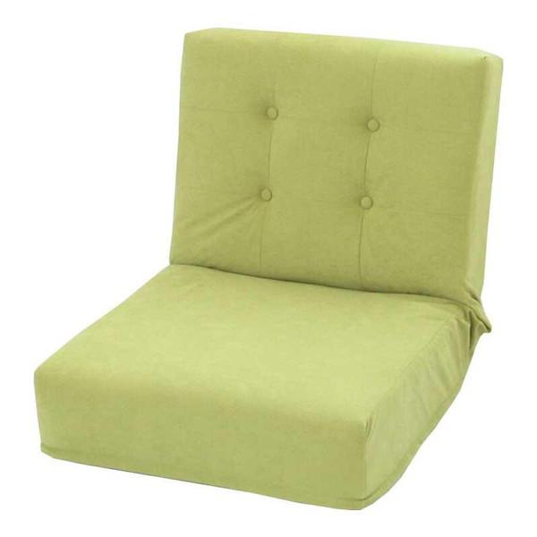 座椅子 リクライニングチェア 低い 椅子 一人暮らし コンパクト ローチェア こたつ おしゃれ 1人掛け 一人掛け 極厚 S スエード グリーン