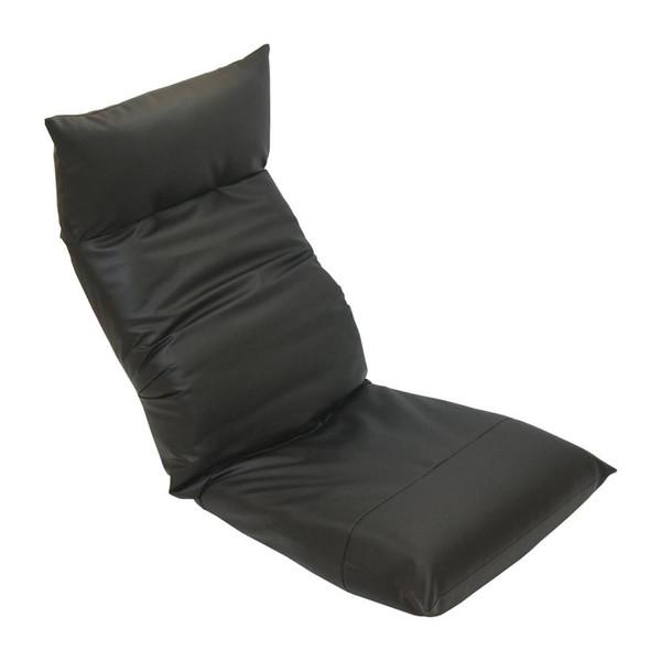 座椅子 リクライニングチェア 低い 椅子 一人暮らし コンパクト ローチェア こたつ おしゃれ 1人掛け 一人掛け ヘッドレスト レザー ブラック