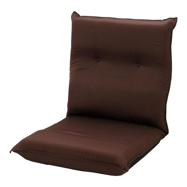 座椅子 リクライニングチェア 低い 椅子 一人暮らし コンパクト ローチェア こたつ おしゃれ 1人掛け 一人掛け 低反発 ワイド座椅子 ブラウン