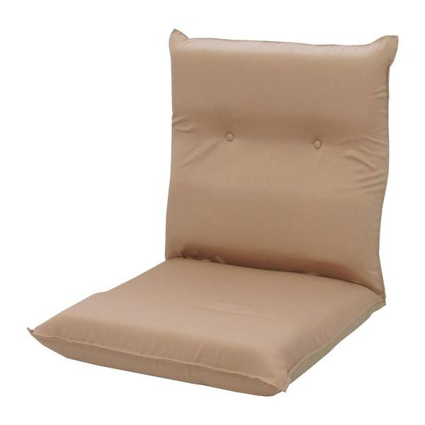 座椅子 リクライニングチェア 低い 椅子 一人暮らし コンパクト ローチェア こたつ おしゃれ 1人掛け 一人掛け 低反発 ワイド座椅子 ベージュ