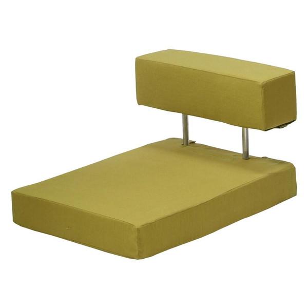 座椅子 座布団 低い 椅子 座イス 座いす 一人暮らし コンパクト ロー こたつ おしゃれ 1人掛け 一人掛け フロアチェア 抹茶色