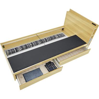 高級ブランド ベッド シングル 一人暮らし 木製 シングル 北欧 おしゃれ 北欧 モダン アンティーク 高さ75 ナチュラル 約 幅100 奥行207 高さ75 座面高24, イミズグン:e0c6dfbf --- mail.galyaszferenc.eu