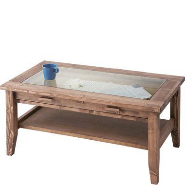 センターテーブル 棚付き ローテーブル ディスプレイ 【 木製テーブル 木製 リビングテーブル ダイニングテーブル ちゃぶ台 サイドテーブル コーヒーテーブル 座卓 送料無料 送料込 ポイント 】 ブラウン 茶色
