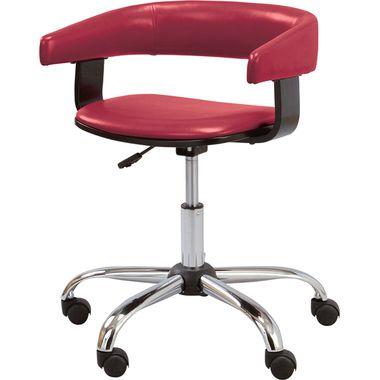 オフィスチェア キャスター付き椅子 学習椅子 デスクチェア レッド 赤 【チェア 椅子 イス 勉強 学習 事務 送料無料 送料込み 送料込】