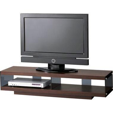 テレビ台 おしゃれ 安い 北欧 ローボード テレビボード 収納 125 薄型 幅125 ブラウン 茶色 TVボード TV台 テレビラック TVラック