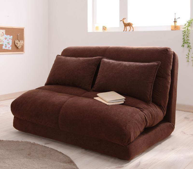 ソファー ソファ 2人掛け 二人掛け 2人用 二人用 おしゃれ 布 ファブリック 北欧 リビング ソファーベッド ソファベッド 一人暮らし 座椅子 ローソファ リクライニング  ( 幅120 ピンク )