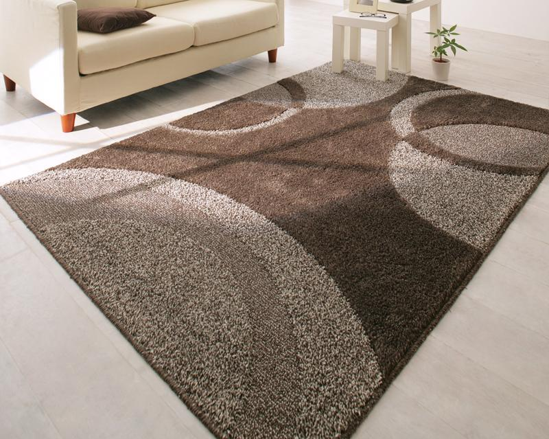 ラグ カーペット じゅうたん ラグマット 絨毯 安い マット 190×190 3畳 ブラウン 茶色 北欧 おしゃれ 防音 厚手 ふかふか モダン かっこいい ヴィンテージ