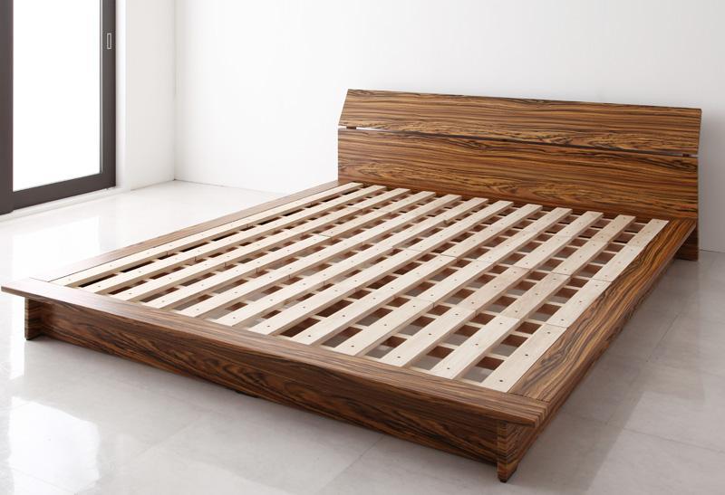 ベッド 安い クイーン クイーンベッド クイーンサイズ ( フレームのみ ) ブラウン