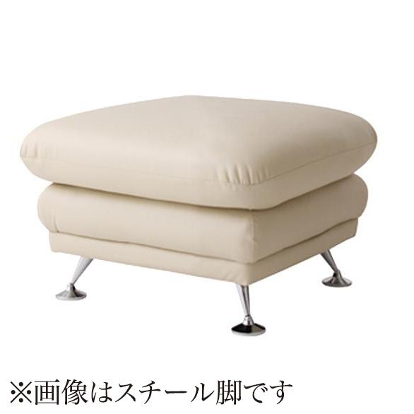 オットマン チェア スツール 足置き 椅子  ( レザー 合皮 革 オットマン レッド 赤 木脚 ブラウン )