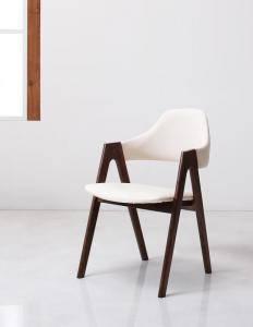 ダイニングチェア 2脚 椅子 おしゃれ 北欧 安い アンティーク 木製 シンプル ( 食卓椅子 ) 座面高45 レザー 合皮 完成品 背もたれ 肘付き シートクッション コンパクト 小さめ 西海岸 ヴィンテージ インダストリアル レトロ サーフ ブルックリン