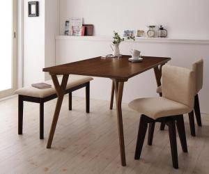 ダイニングセット ダイニングテーブルセット 4人 四人 4人用 四人用 椅子 ダイニングテーブル ベンチ おしゃれ 安い 北欧 食卓 ( 4点(テーブル+チェア2脚+ベンチ1脚)幅140 )