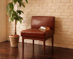 ソファー ソファ 1人掛け 一人掛け 1人用 一人暮らし ダイニングチェア 椅子 おしゃれ 北欧 安い アンティーク 木製 シンプル レザー 革 合皮 ( 食卓椅子1脚 )