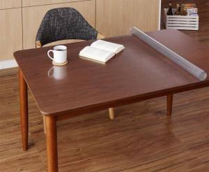 ダイニングテーブルマット 防水 テーブルカバー ビニール デスクマット ビニールシート 厚手 保護マット テーブルマット テーブルクロス 滑り止め 安い ( テーブルマット90×90cm )