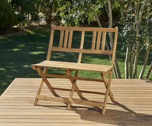 ガーデンベンチ ベンチチェア ベンチチェアー 長椅子 ガーデンチェア おしゃれ 椅子 チェア 屋外 カフェ テラス ガーデン 庭 ベランダ バルコニー アジアン( ガーデンベンチ2P )