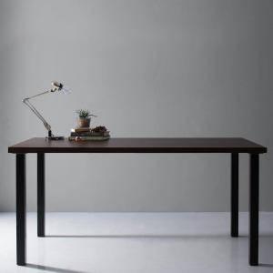 ダイニングテーブル おしゃれ 安い 北欧 食卓 テーブル 単品 モダン 机 会議用テーブル ( 食卓テーブルブラウン ストレート脚幅150 )