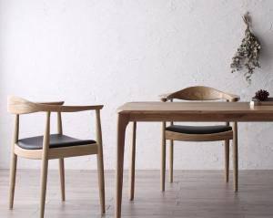 ダイニングテーブルセット 2人用 椅子 一人暮らし コンパクト 小さめ ワンルーム おしゃれ 安い 北欧 食卓 3点 机 チェア2脚 幅150 デザイナーズ クール スタイリッシュ ミッドセンチュリー オーク 木製 無垢