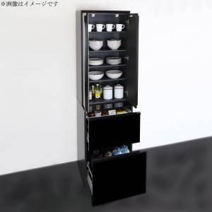 食器棚 おしゃれ 北欧 安い キッチン 収納 棚 ラック 木製 大容量 カップボード ダイニングボード ( 設置有 ストッカー 幅60 )