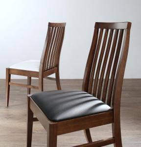ダイニングチェア 2脚 椅子 おしゃれ 北欧 安い アンティーク 木製 シンプル ( 食卓椅子 ) 座面高47 座面 高め レザー 合皮 背もたれ シートクッション ハイバック カントリー フレンチ ヨーロピアン レトロ ウィンザー風