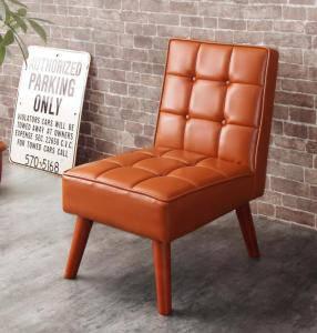 ソファー ソファ 1人掛け 一人掛け 1人用 一人暮らし ダイニングチェア 椅子 おしゃれ 北欧 安い アンティーク 木製 シンプル レザー 革 合皮 ( 食卓椅子 1脚 )