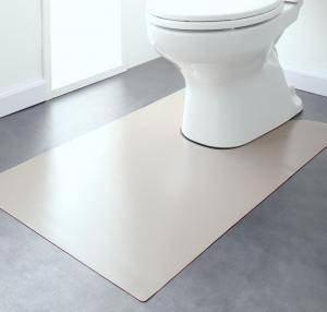 トイレマット トイレ マット おしゃれ 安い 拭ける ふける 洗える 滑り止め ふかふか ふわふわ ( トイレマット60×95cm )