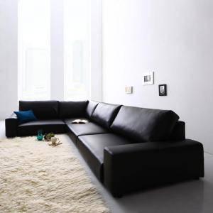 コーナーソファー コーナーソファ ローソファー ローソファ 座椅子 低い 椅子 ソファー ソファ L字 l型 おしゃれ 安い 北欧 3.5人掛け 3.5P レザー 革 合皮 カウチ( ソファロータイプ3.5P )