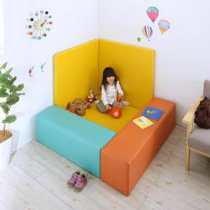 プレイマット ベビーマット 厚手 クッションフロア マット 子供 子供部屋 赤ちゃん ベビー キッズ おしゃれ 防音 フロアマット 極厚 かわいい 可愛い ( 5点セットフロアマット1枚+スツール2枚+壁面マット2枚125×125 )