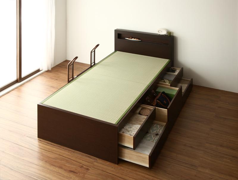 ベッド 安い 収納付き ベッド セミダブル セミダブルベッド セミダブルサイズ 畳ベッド 畳ベッド コンセント付き 収納付き ( フレームのみ ) ガード付 ナチュラル, 尾張旭市:df05b01b --- apps.fesystemap.dominiotemporario.com