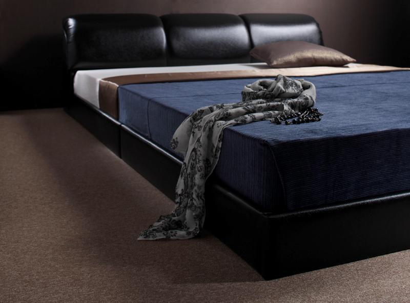 ベッド ベット 安い ダブル ダブルベッド ダブルベット ダブルサイズ ( ポケット マットレス付き / ハード ) ブラック 黒