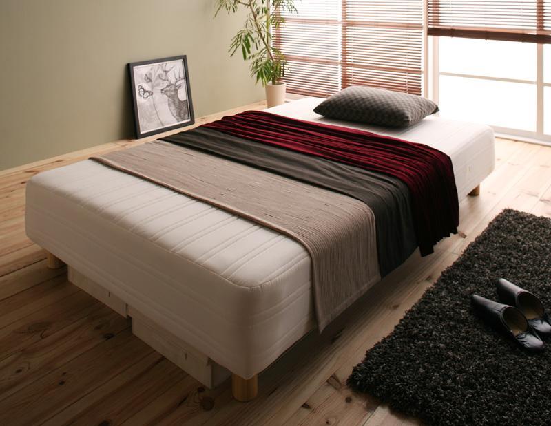 ベッド 安い シングル シングルベッド シングルサイズ ローベッド 低いベッド 低い 木脚15 ( 線径2.0 )