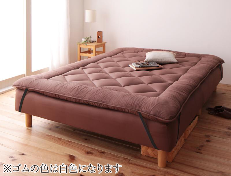 ベッド 安い セミダブル セミダブルベッド セミダブルサイズ ローベッド 低いベッド 低い マットレス付き 脚22 ( 敷パッド ブラウン )