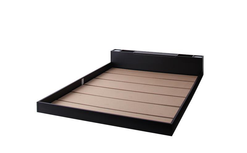ベッド ベット 安い ダブル ダブルベッド ダブルベット ダブルサイズ ライト 収納付き ( フレームのみ ) ブラック 黒