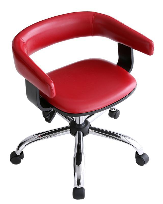 オフィスチェア 事務椅子 デスクチェア キャスター付き椅子 キャスター 椅子 チェア レッド 赤 コンパクト おしゃれ 安い パソコンチェア
