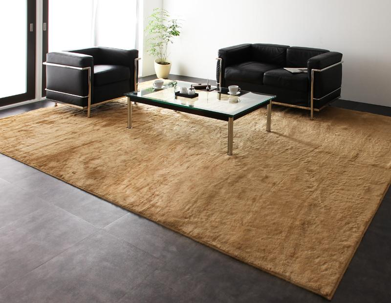 ラグ カーペット おしゃれ ラグマット 絨毯 北欧 安い マット ふわふわ 極厚 ふかふか ファーラグ 261×352 6畳 ブラウン 茶色 防音 厚手 子供