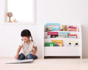 本棚 書棚 マガジンラック 姫系 かわいい 可愛い ポップ 絵本ラック 幅65 cm ホワイト 白 ナチュラル ダーク ブラウン 茶色