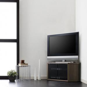 薄型 コーナータイプ テレビ台 スモールタイプ ブラウン 茶色 ウォールナット