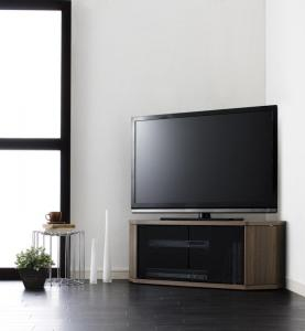薄型 コーナータイプ テレビ台 レギュラータイプ ブラウン 茶色 ウォールナット