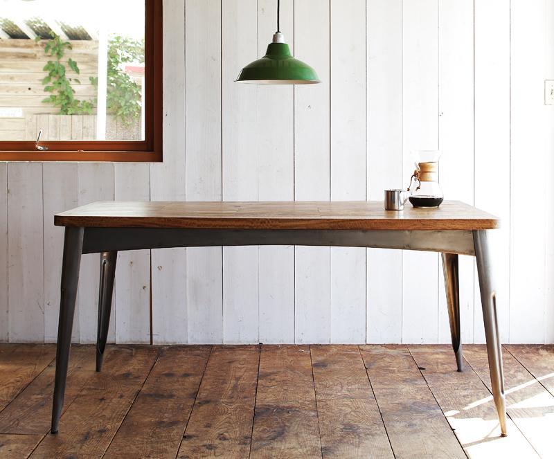 おしゃれ かっこいい カフェ 系 ヴィンテージ カントリー 調 ダイニング テーブル(幅150) ウォールナット ブラウン 茶色