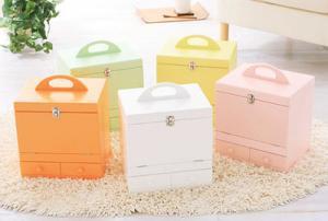 メイクボックス コスメボックス ポップ コンパクト 化粧 鏡付き 大容量 メイク コスメ 可愛い 黄色 ホワイト 爆売りセール開催中 グリーン 高級 白 イエロー かわいい 緑 オレンジ ピンク